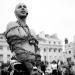 street performer  - brighton, england
