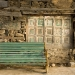 bench and old wall