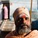 sadhu with woman behind
