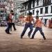 football in durbar square - kathmandu