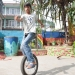 sujan on unicycle